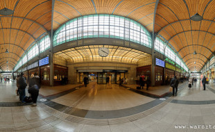 panorama sferyczna dworca PKP we Wrocławiu