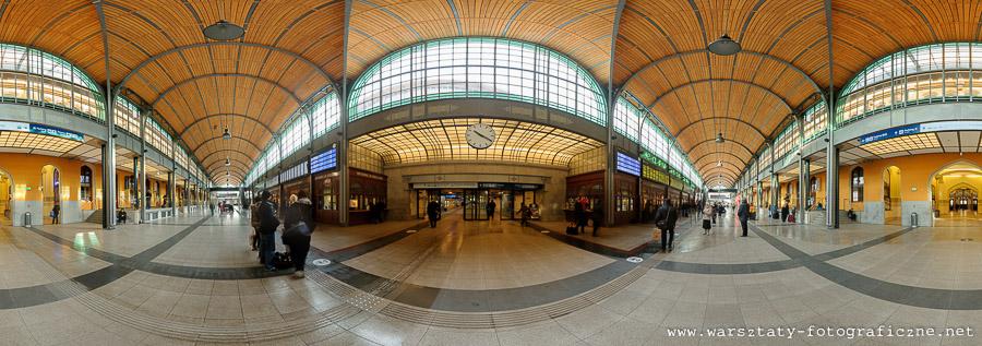 panorama sferyczna dworca PKP weWrocławiu