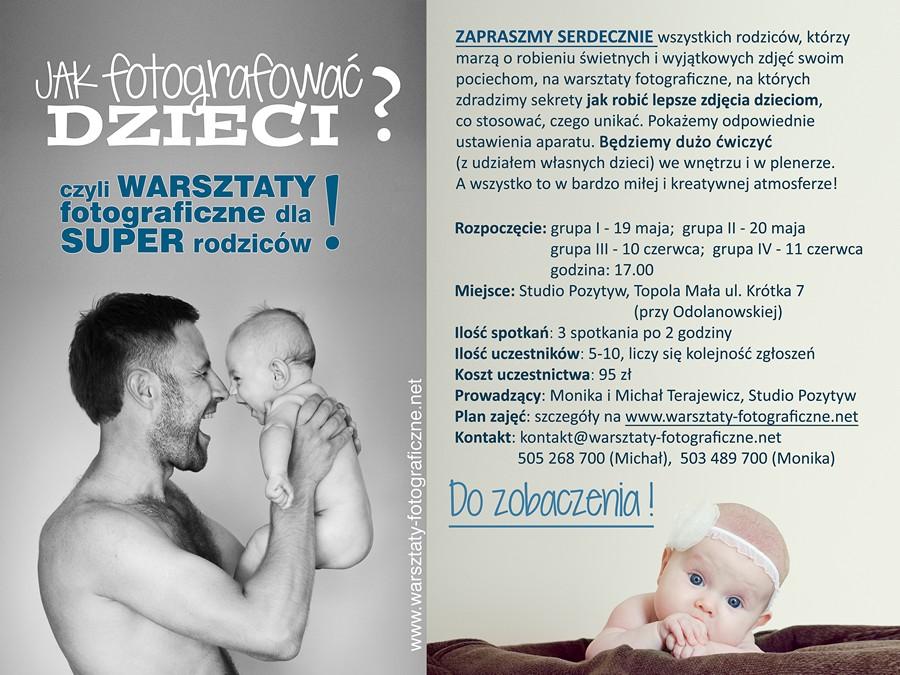plakat reklamujący kurs dla rodziców