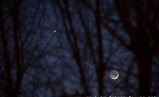 koniuncka Księżyc - Wenus - Mars