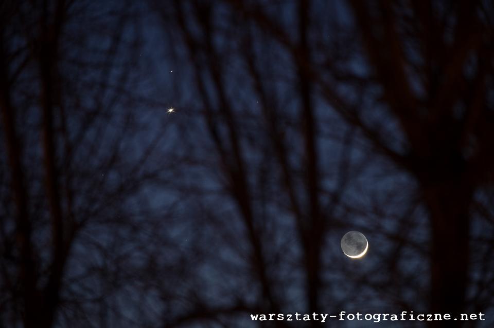Koniunkcja: Księżyc - Wenus - Mars