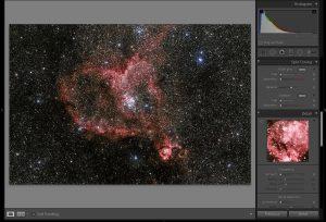 podgląd edycji astrofotografi wLightroomie