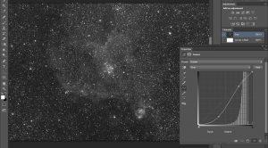 zdjęcie astronomiczne podczas edycji wkomputerze