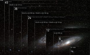 Ilustracja przedstawia rozdzielczość lustrzanek cyfrowych w połączeniu z przykładowymi wydrukami