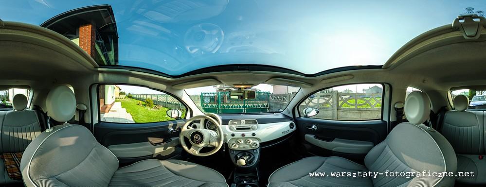 panorama sferyczna - wnętrze samochodu