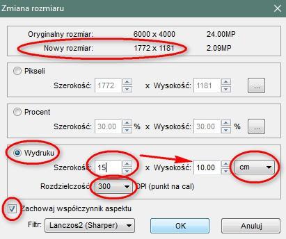 Zmiana rozmiaru zdjęcia wprogramie FastStone Image Viewer